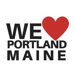 graphic we love portland maine