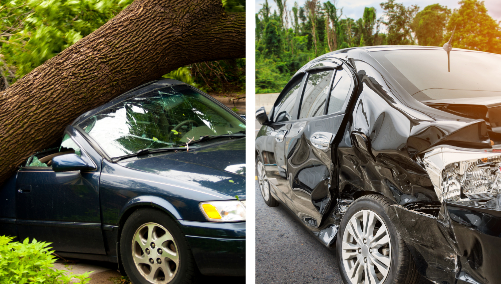 comprehensive and collision insurance cover damage to your vehicle
