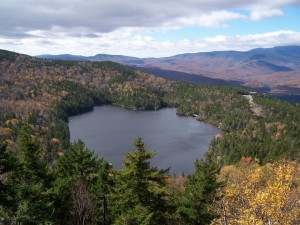 Loon Mountain in fall by Denis Hartley