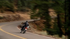 motorcycle rider from Safeco TV commercial