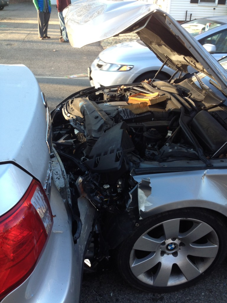 Rear-end auto accident