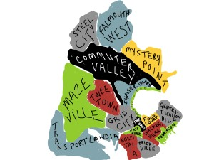 Portland Maine Offbeat Neighborhood Map